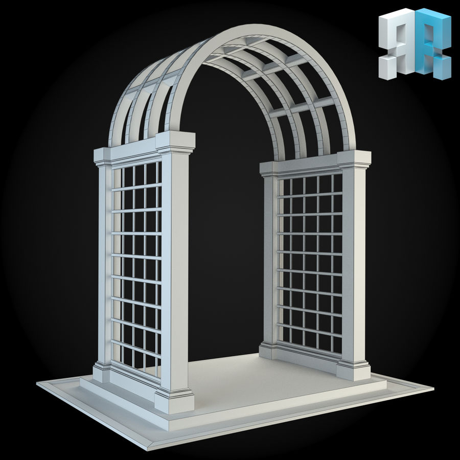 Pergola 001 royalty-free 3d model - Preview no. 4