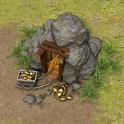 Gouden mijn 3d model
