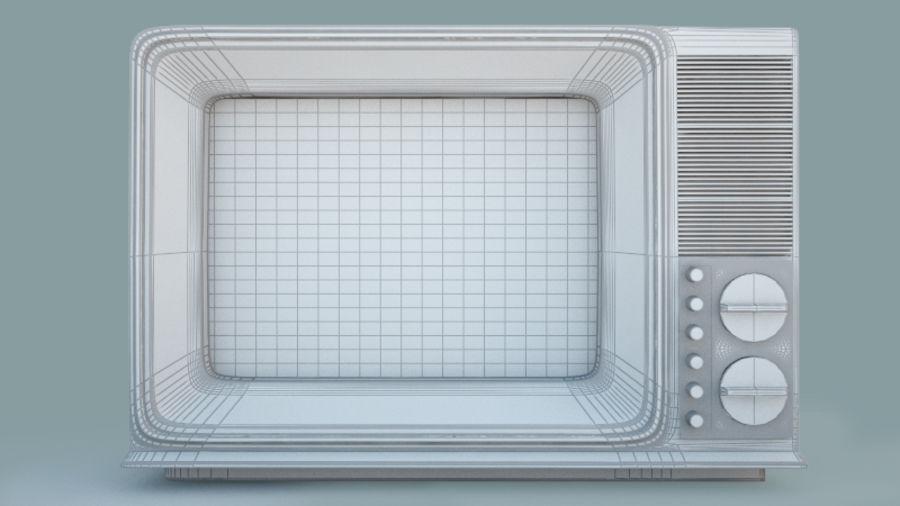 Gammal TV royalty-free 3d model - Preview no. 3