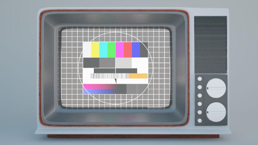 Gammal TV royalty-free 3d model - Preview no. 4