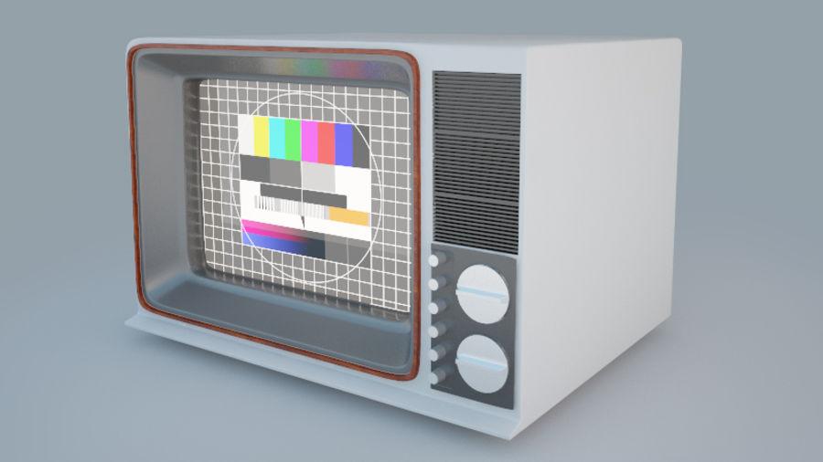 Gammal TV royalty-free 3d model - Preview no. 6