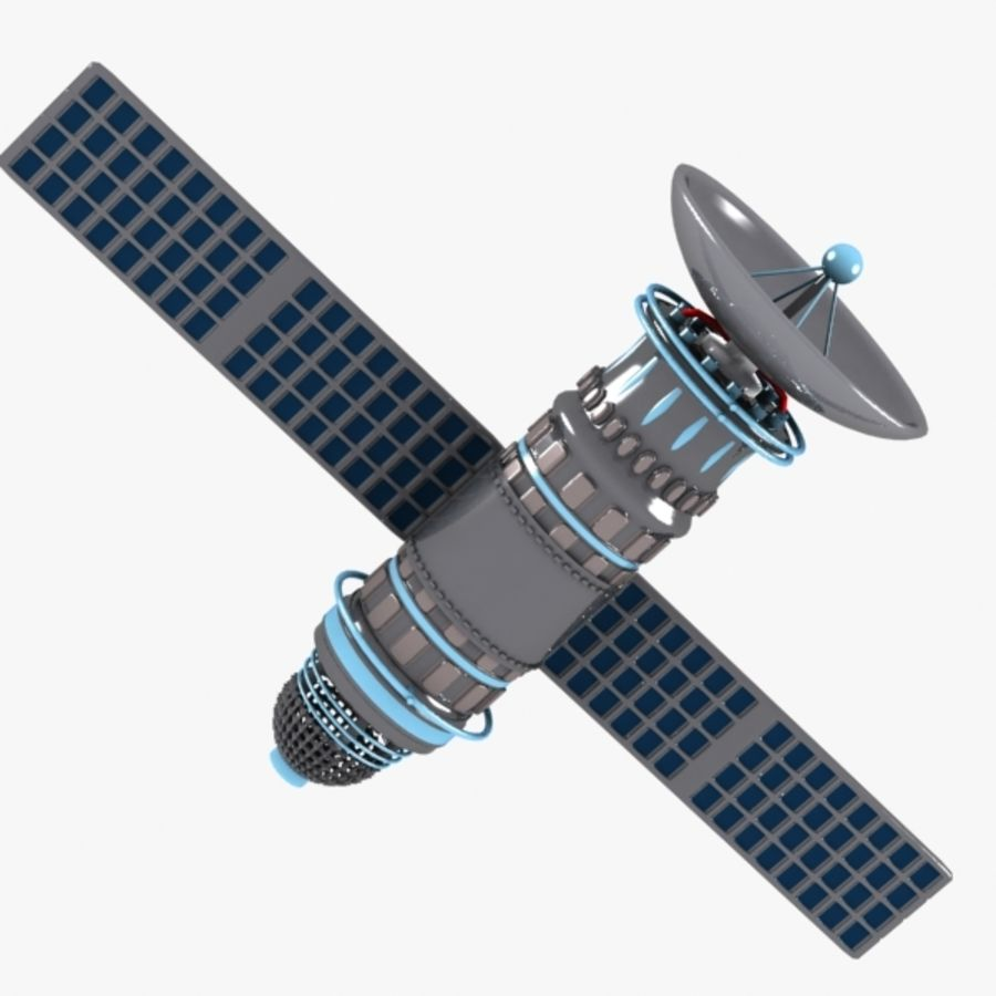 Cartoon Satellite royalty-free 3d model - Preview no. 4