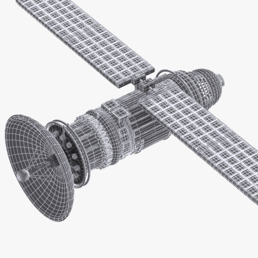 Cartoon Satellite royalty-free 3d model - Preview no. 8