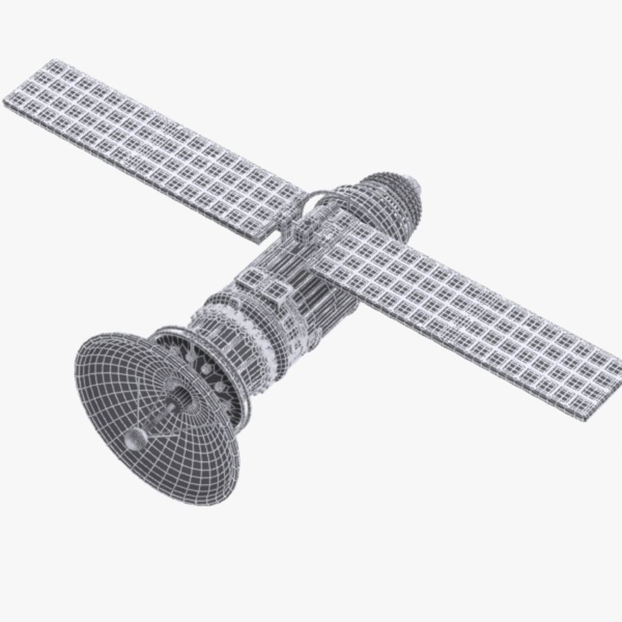 Cartoon Satellite royalty-free 3d model - Preview no. 9