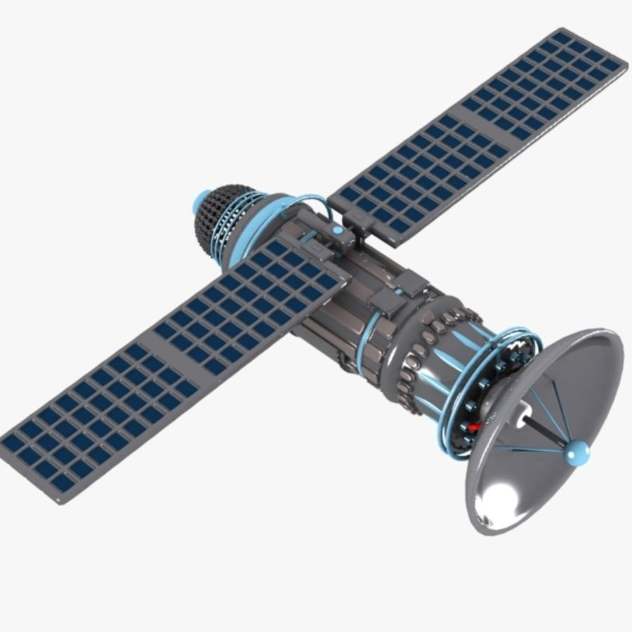 Cartoon Satellite royalty-free 3d model - Preview no. 3