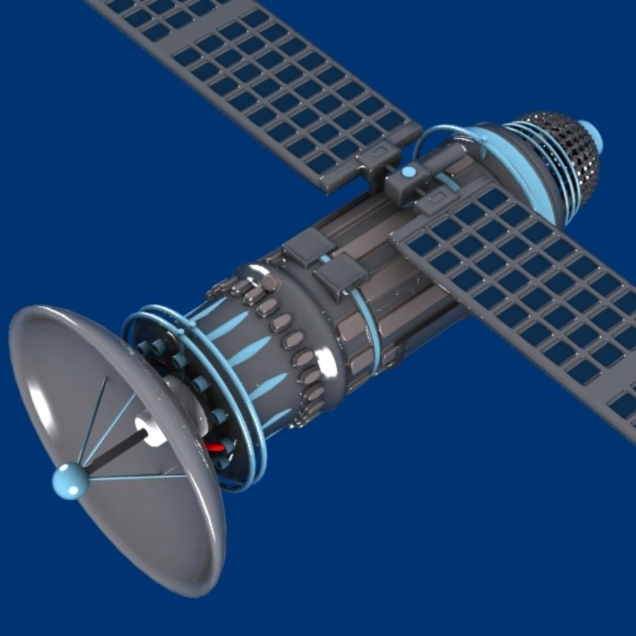 Cartoon Satellite royalty-free 3d model - Preview no. 2