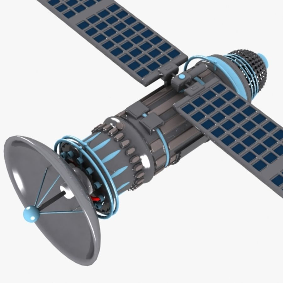 Cartoon Satellite royalty-free 3d model - Preview no. 1