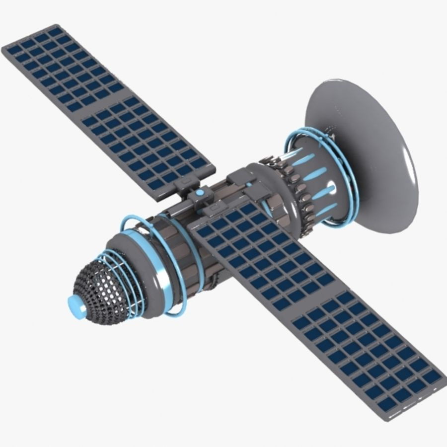 Cartoon Satellite royalty-free 3d model - Preview no. 5