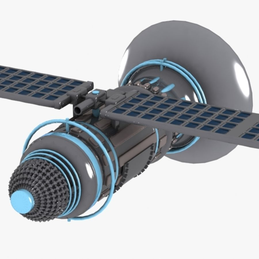 Cartoon Satellite royalty-free 3d model - Preview no. 6
