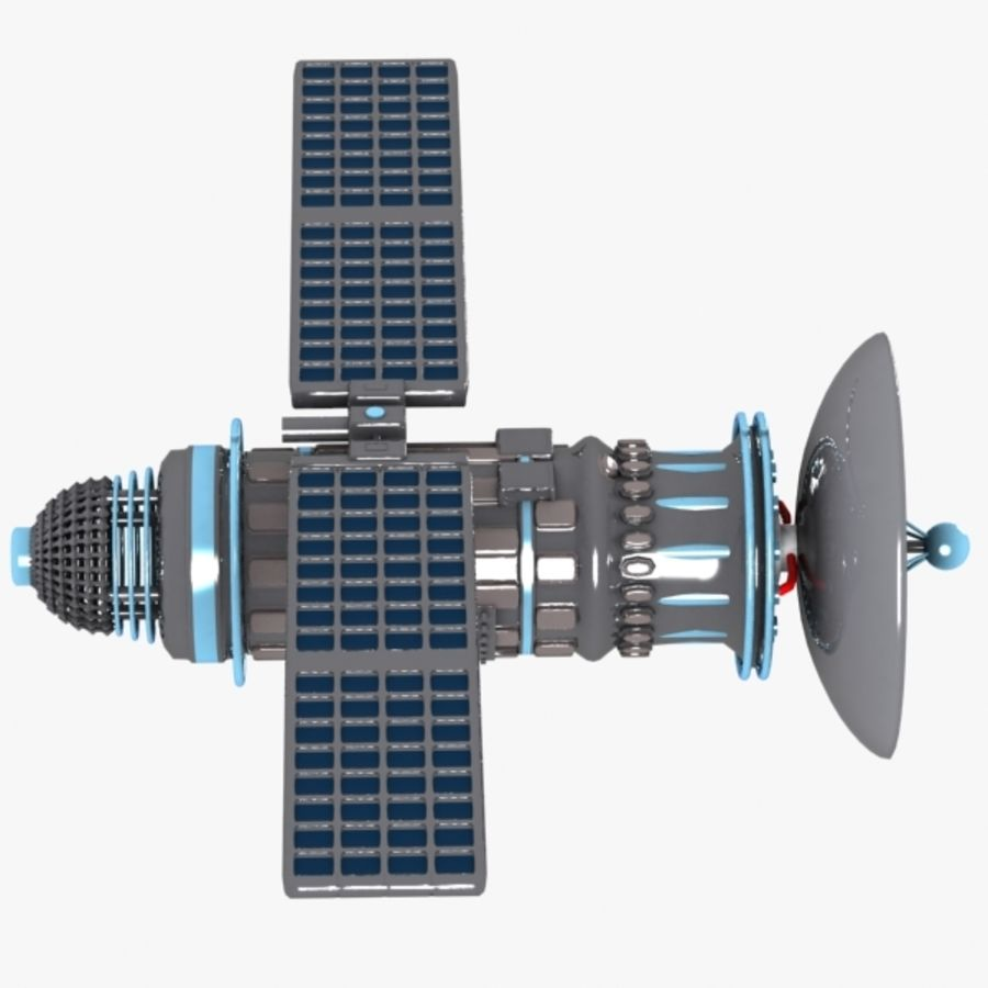 Cartoon Satellite royalty-free 3d model - Preview no. 7
