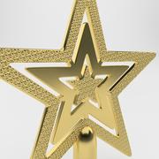 Gold Christmas Star 3d model