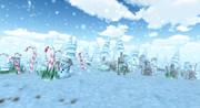 Floresta de inverno Lowpoly 3d model