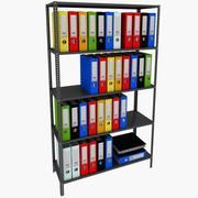 folder and shelf 3d model
