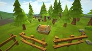 Lowpoly Toon Ormanı 3d model