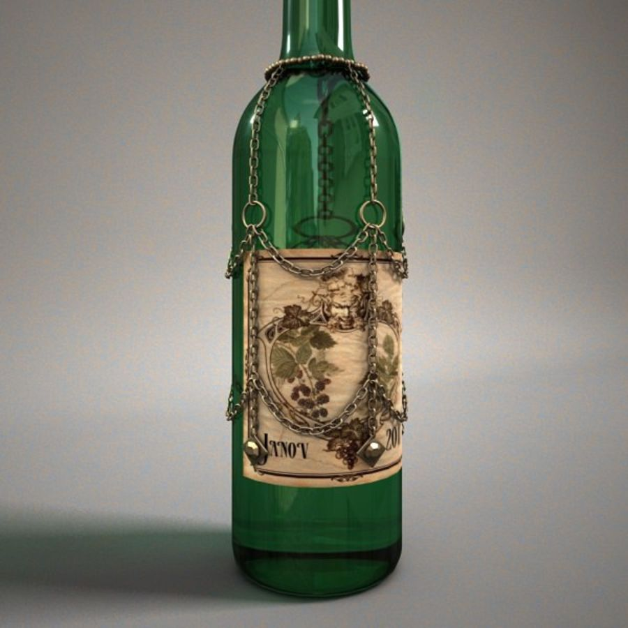 Garrafa de vinho royalty-free 3d model - Preview no. 3