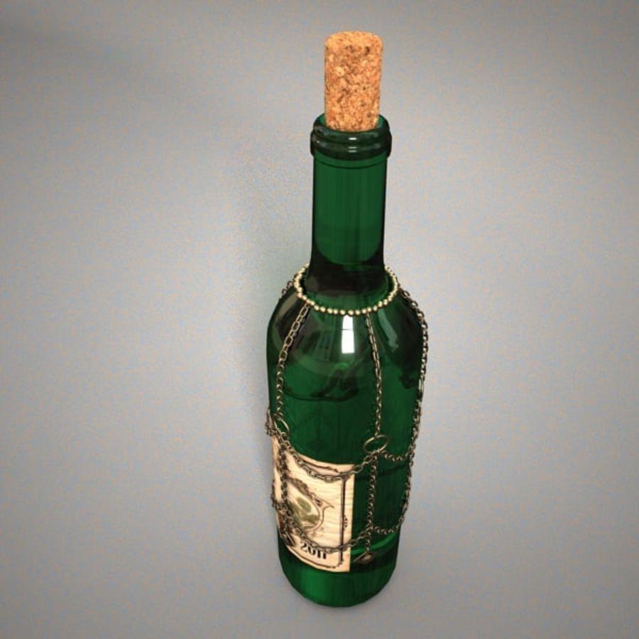 Бутылка вина royalty-free 3d model - Preview no. 2