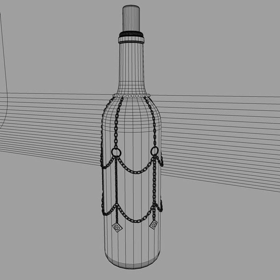 Бутылка вина royalty-free 3d model - Preview no. 5