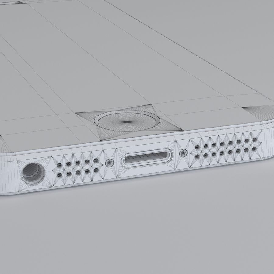 Iphone 5S royalty-free 3d model - Preview no. 11