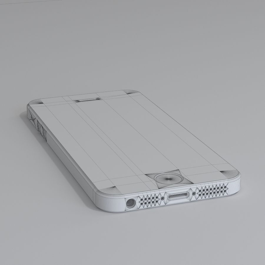 Iphone 5S royalty-free 3d model - Preview no. 10