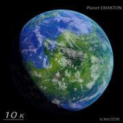 Fotorealistischer Planet Emakton 3d model