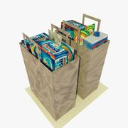 2 Low Poly Paper Shopping Bags 3d model