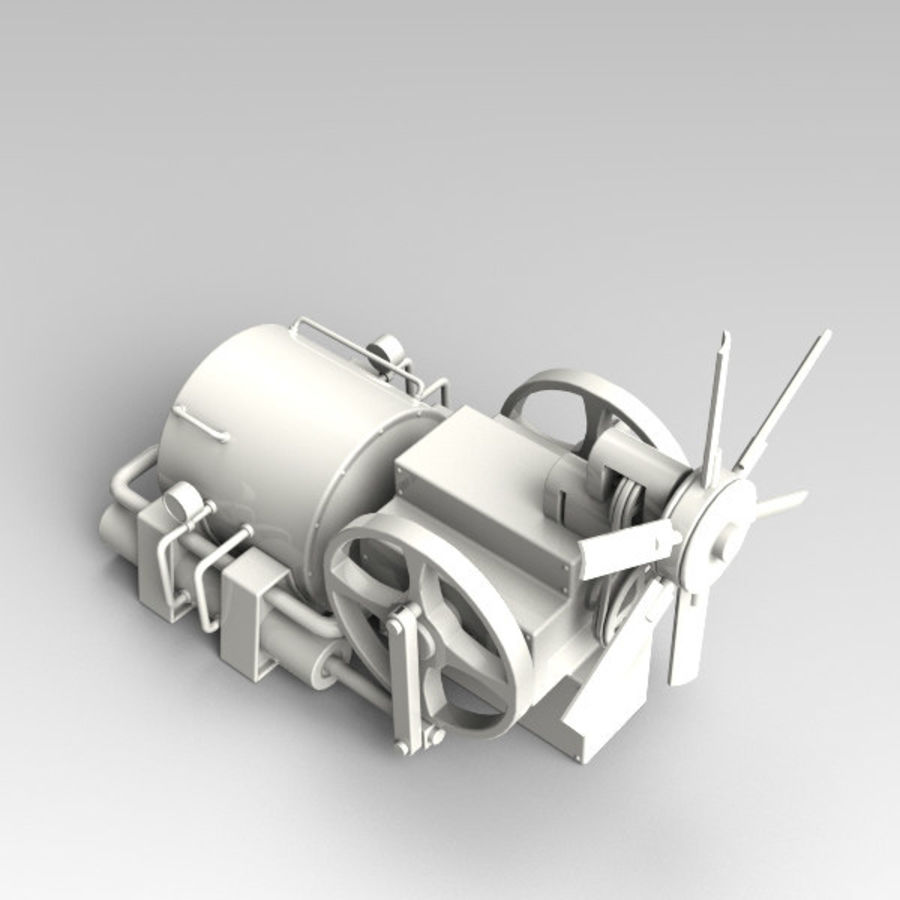 Motore royalty-free 3d model - Preview no. 3
