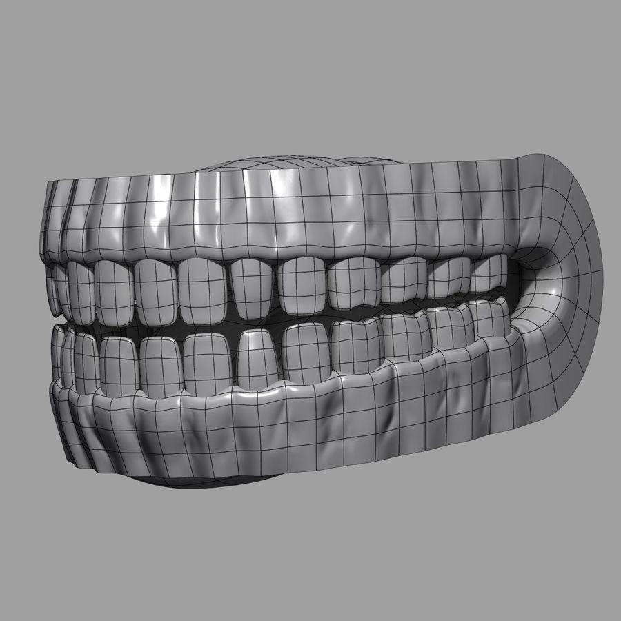 牙齿和牙龈 royalty-free 3d model - Preview no. 10