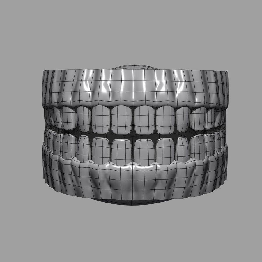 牙齿和牙龈 royalty-free 3d model - Preview no. 12