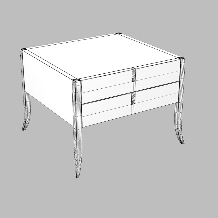 Selva Philippe Solitaire Nightstand moderna contemporânea royalty-free 3d model - Preview no. 4