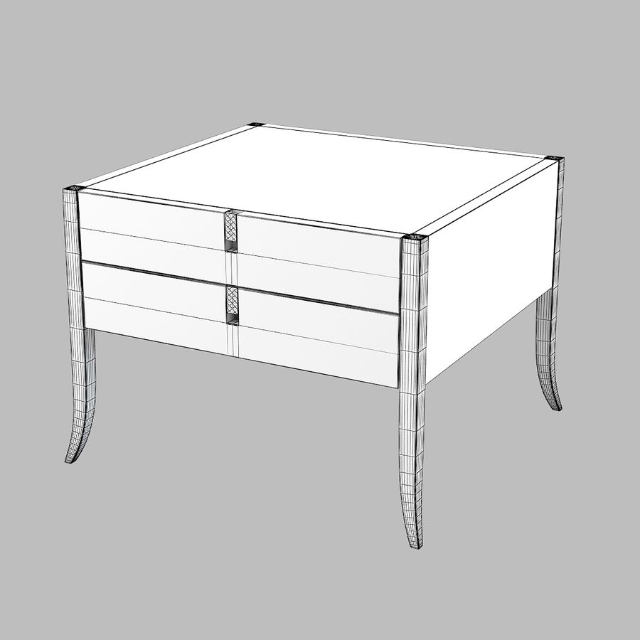 Selva Philippe Solitaire Nightstand moderna contemporânea royalty-free 3d model - Preview no. 5