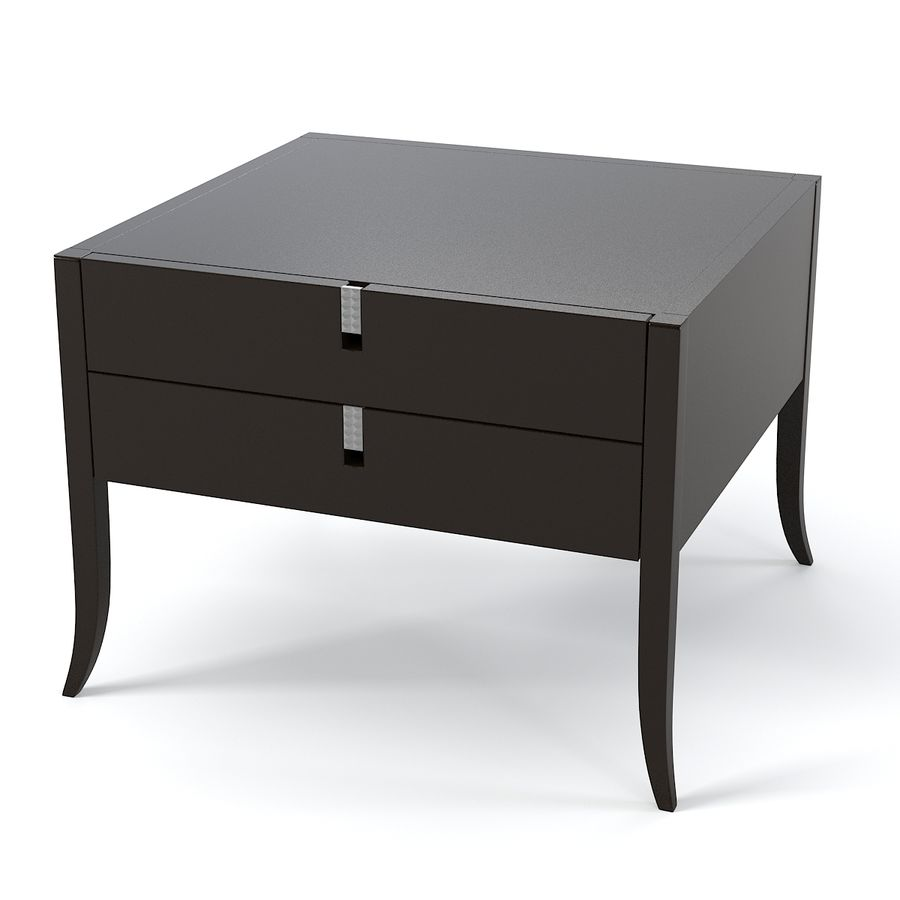 Selva Philippe Solitaire Nightstand moderna contemporânea royalty-free 3d model - Preview no. 3