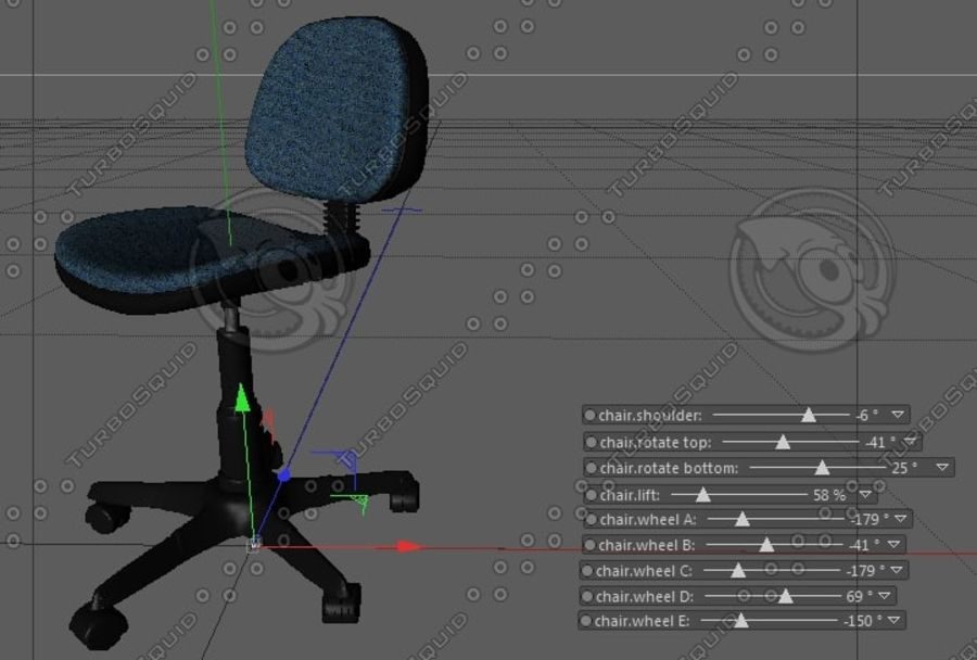 office chair hydraulic diagram rigged office chair 3d model  20 c4d free3d  rigged office chair 3d model  20 c4d