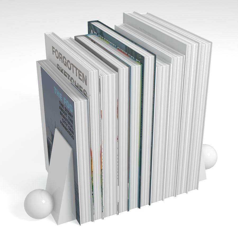 カラーカバーブックセット royalty-free 3d model - Preview no. 4