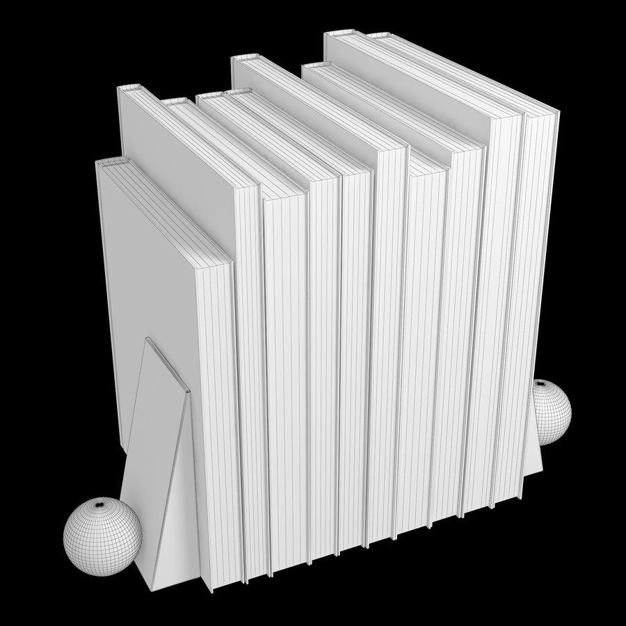 カラーカバーブックセット royalty-free 3d model - Preview no. 5