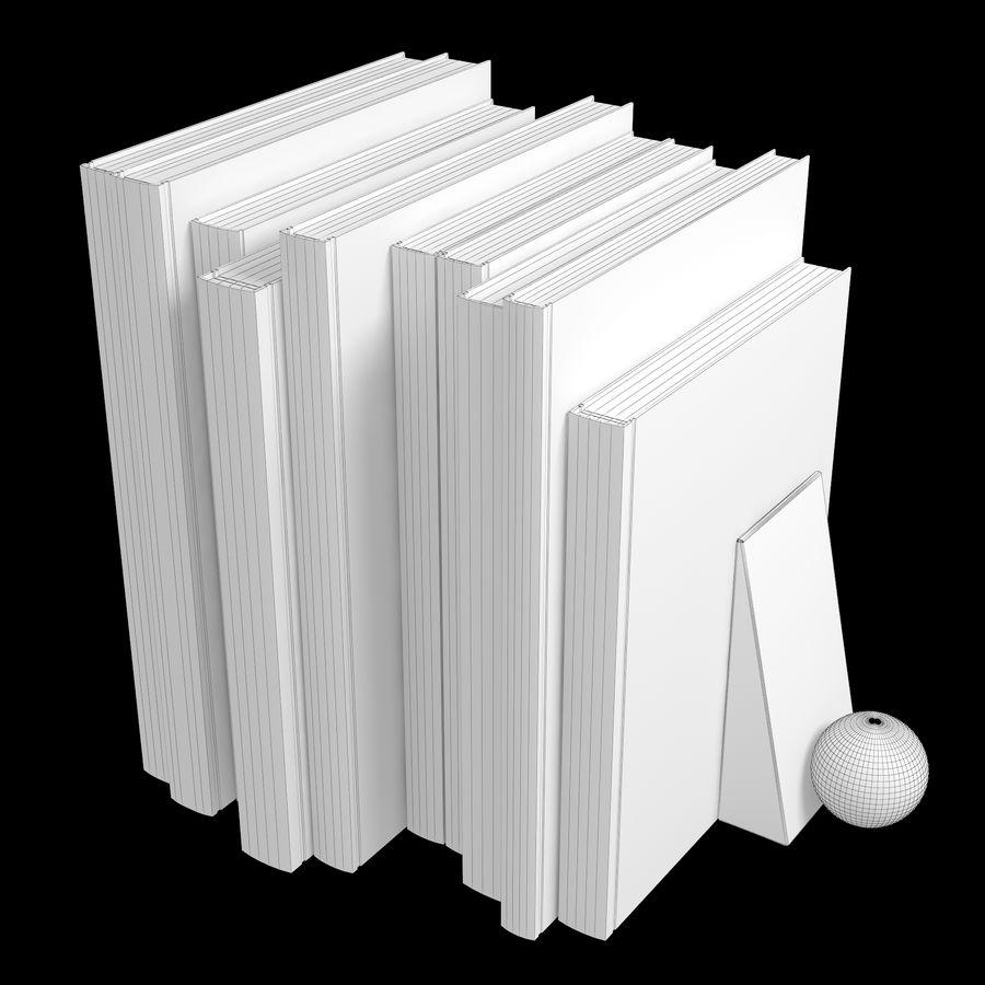 カラーカバーブックセット royalty-free 3d model - Preview no. 3