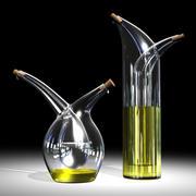 Mojoo-olja och vinägerglasset 3d model