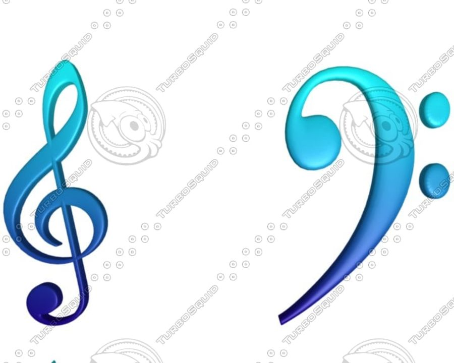 Music Notes royalty-free 3d model - Preview no. 1