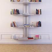 Bücherregal 09 3d model