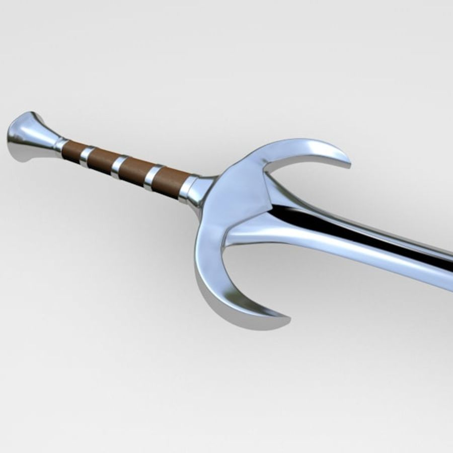 Fantasy sword royalty-free 3d model - Preview no. 3