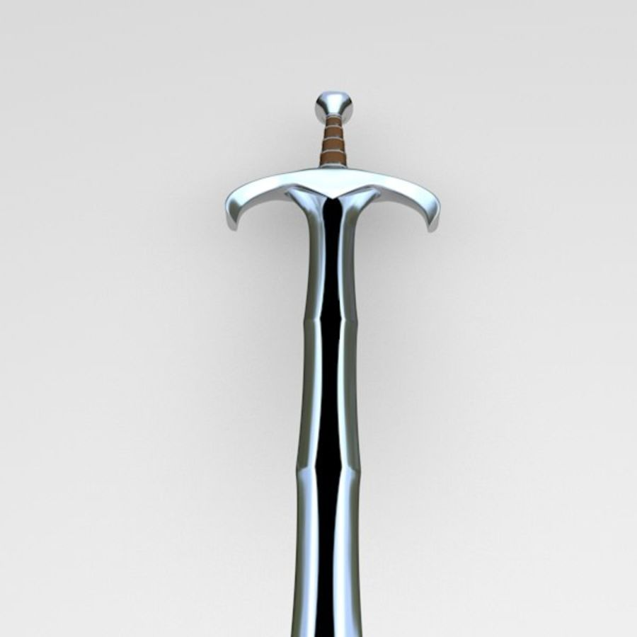Fantasy sword royalty-free 3d model - Preview no. 5