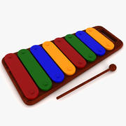 Xylophone Musical Toy 3d model