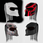 Estilo predador 4 do capacete 3d model