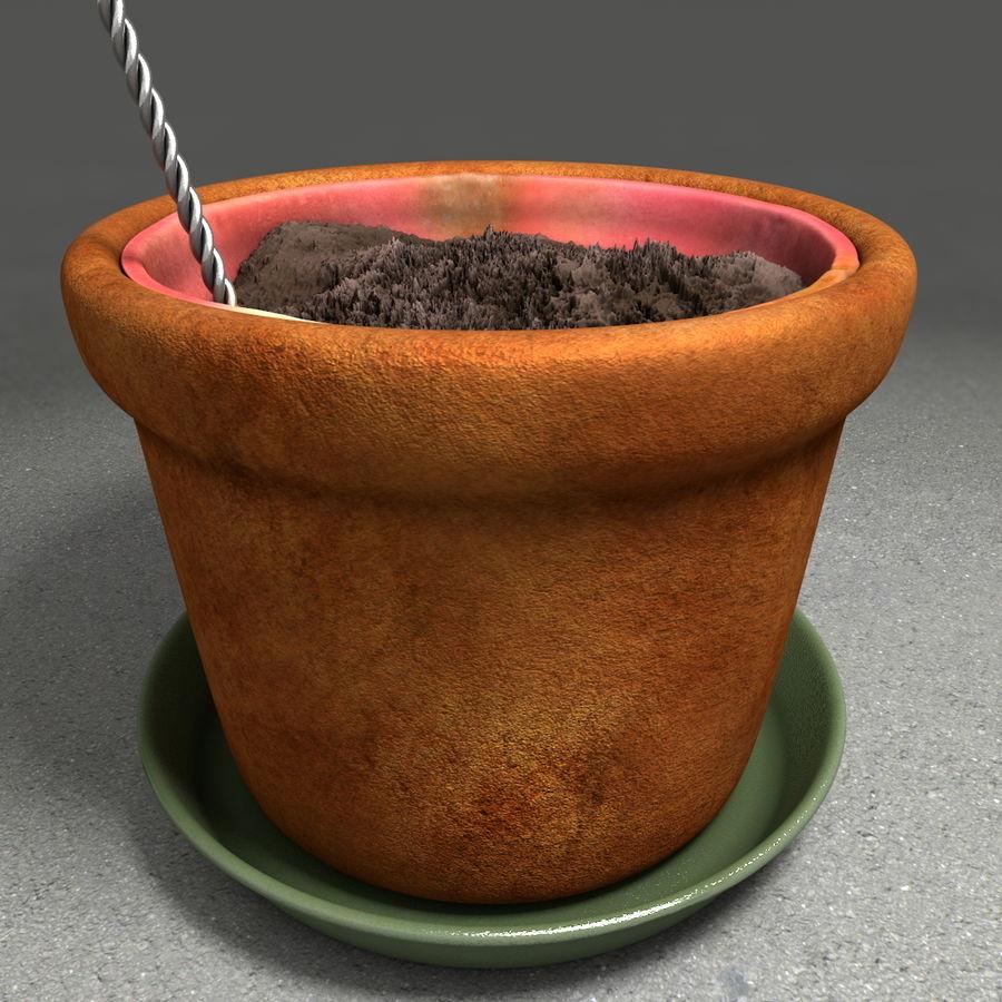 Pot de plante de poterie de jardin de fleur royalty-free 3d model - Preview no. 19