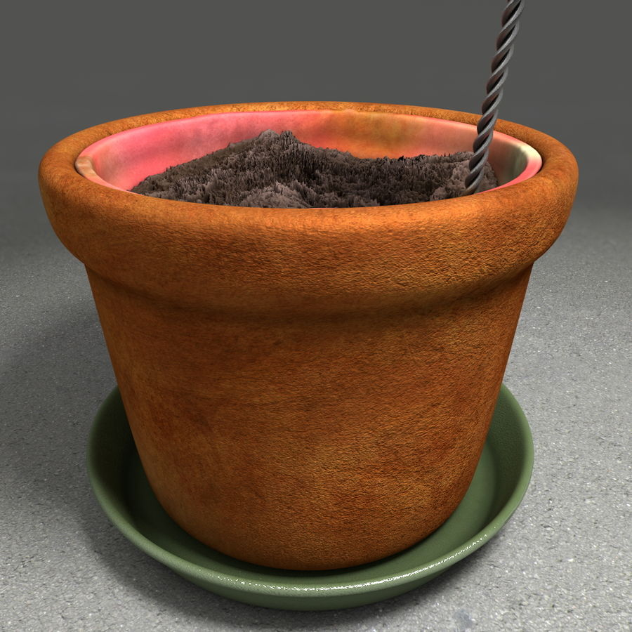 Flower Garden Pottery Plant Pot royalty-free 3d model - Preview no. 22