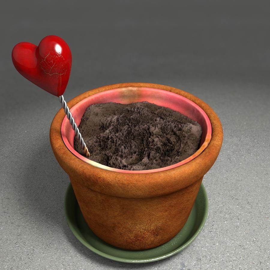 Pot de plante de poterie de jardin de fleur royalty-free 3d model - Preview no. 8