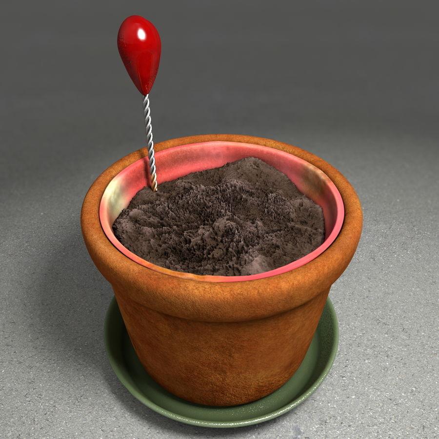 Pot de plante de poterie de jardin de fleur royalty-free 3d model - Preview no. 6