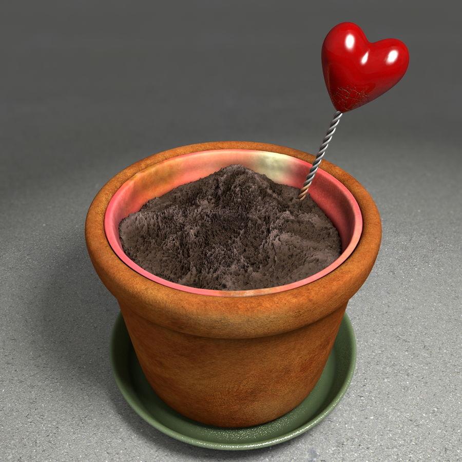 Pot de plante de poterie de jardin de fleur royalty-free 3d model - Preview no. 3