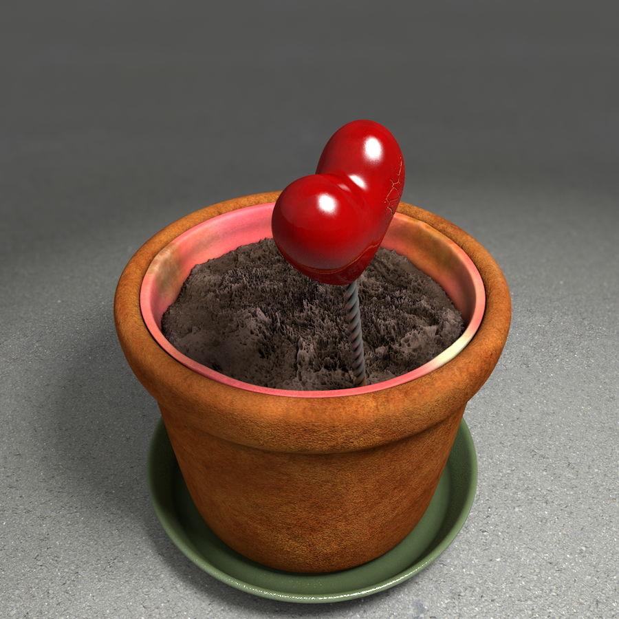 Pot de plante de poterie de jardin de fleur royalty-free 3d model - Preview no. 10