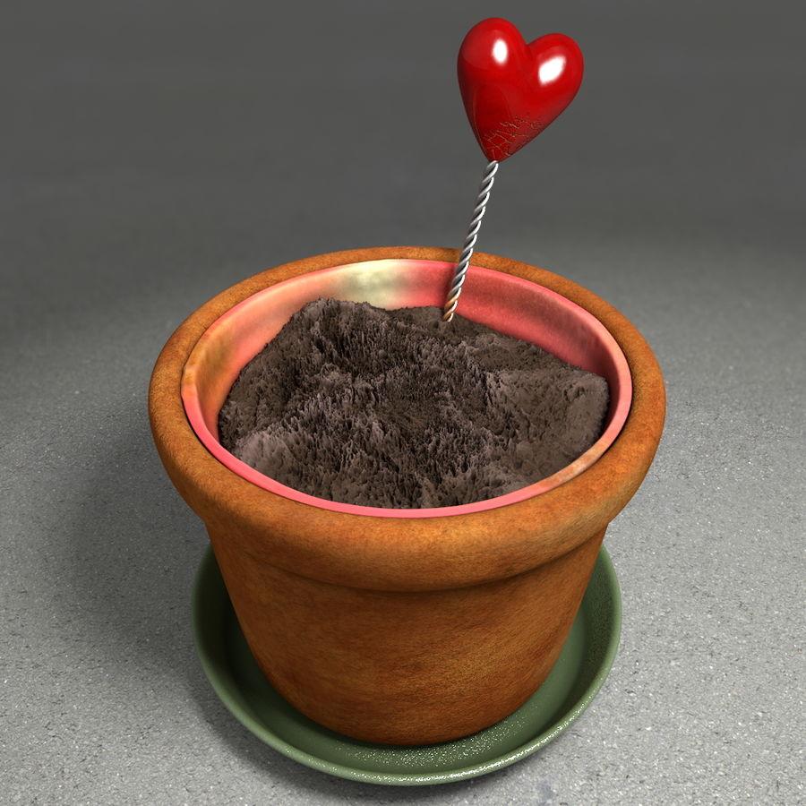 Pot de plante de poterie de jardin de fleur royalty-free 3d model - Preview no. 4