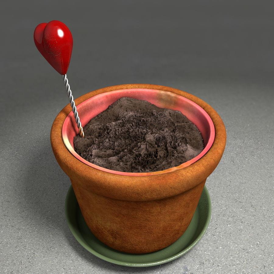 Pot de plante de poterie de jardin de fleur royalty-free 3d model - Preview no. 7